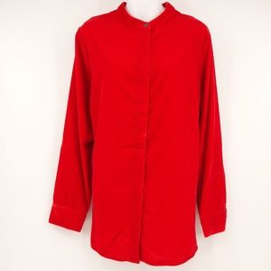 NEW SOFT SURROUNDINGS Red Velvet Montaigne Shirt 